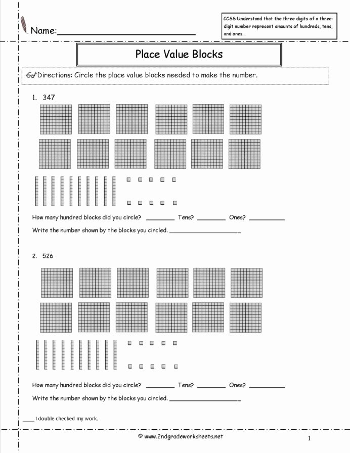 Common Core Worksheets Place Value top Ccss Nbt Worksheets Place Value Mon Core Ccss2nbt11a