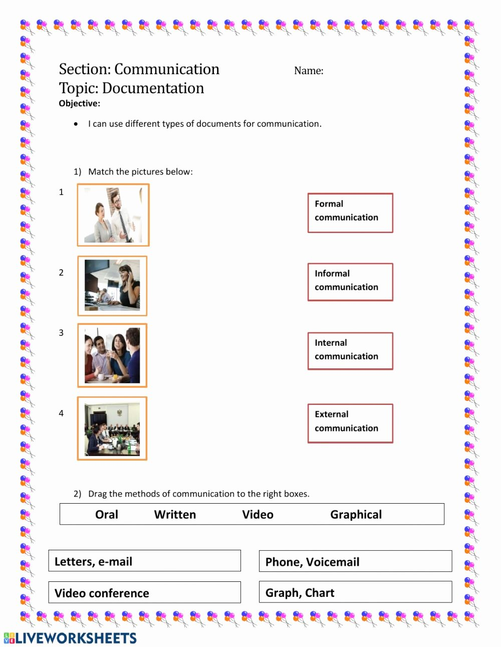Communication Skills Worksheets for Adults New Munication Skills Interactive Worksheet