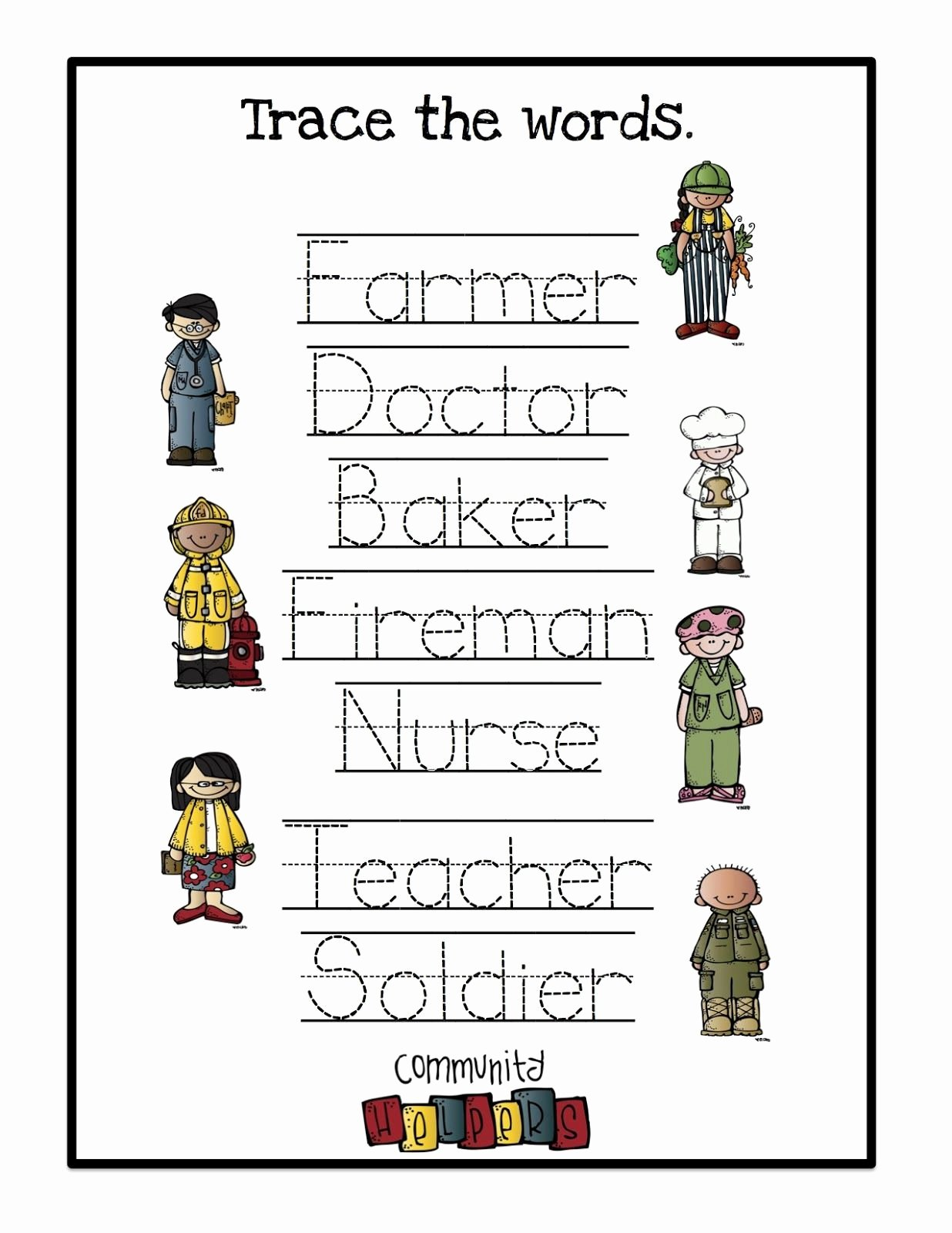 Community Helpers Worksheet for Preschool Inspirational Munity Helpersoring Pages Preschool for toddlers