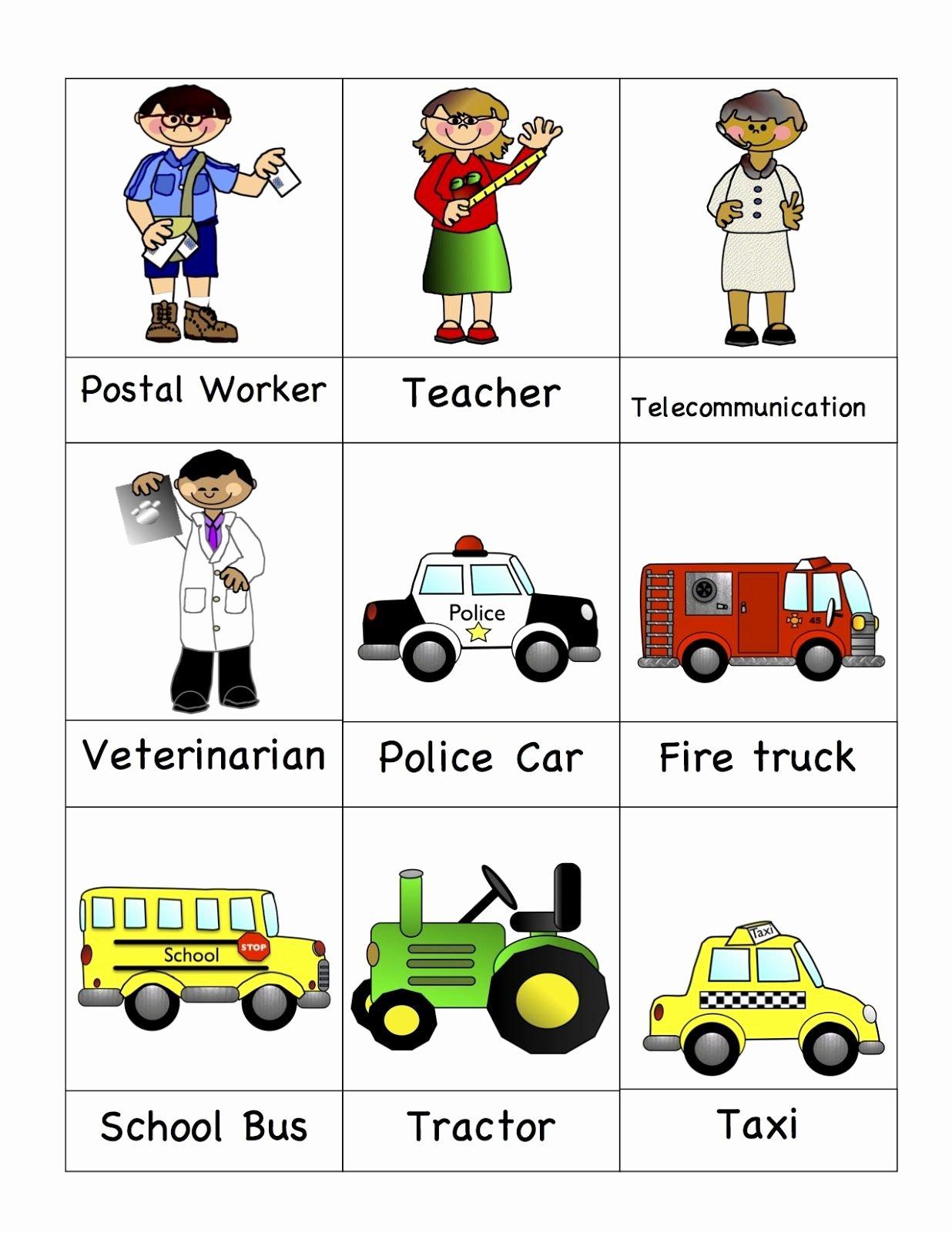 Community Helpers Worksheet for Preschool Lovely Helpers 9 Card Template 2 1 236—1 600 Pixels