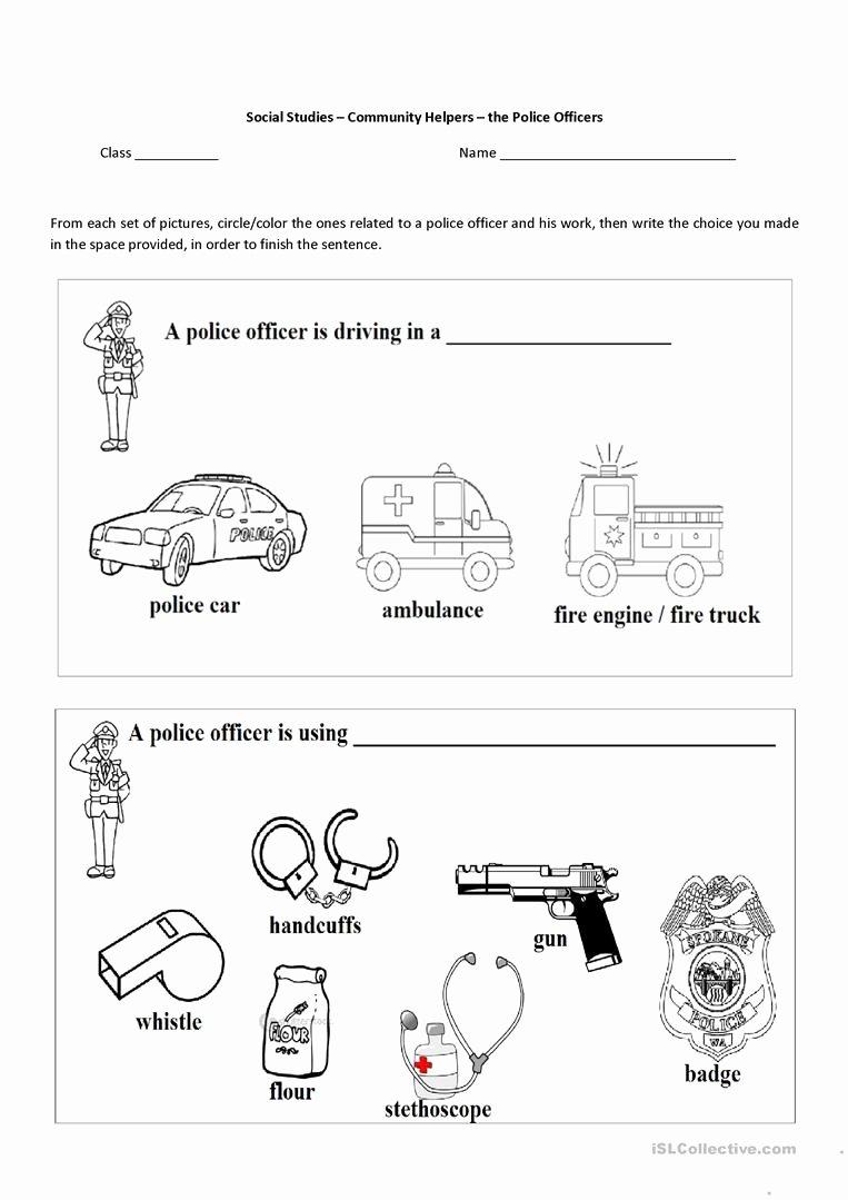 Community Helpers Worksheet for Preschool New English Esl Munity Helpers Worksheets Most Downloaded the