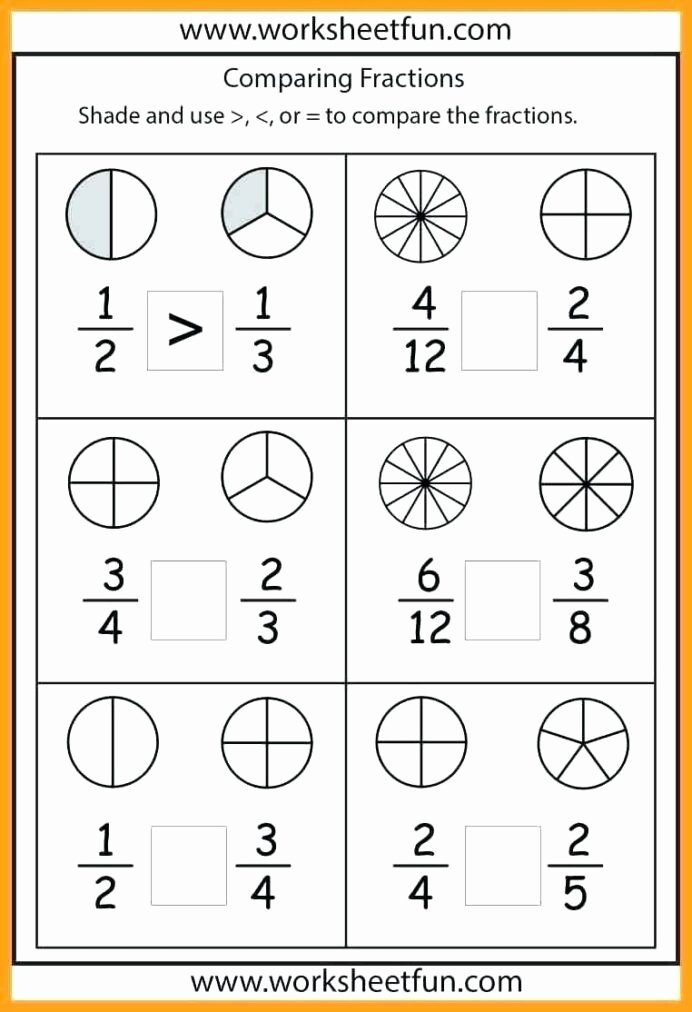 Comparing Fractions Third Grade Worksheet Inspirational 1st Grade Measurement Worksheets Math Worksheet for Kids In