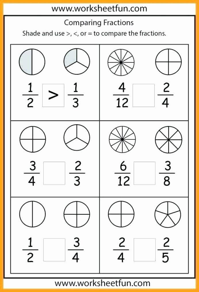 Comparing Fractions Third Grade Worksheet Inspirational 1st Grade Measurement Worksheets Math Worksheet for Kids In
