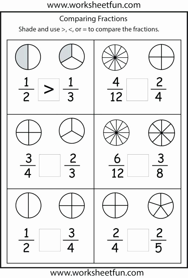 Comparing Fractions Worksheet 3rd Grade New Paring Fractions Third Grade Worksheet Basic Fraction