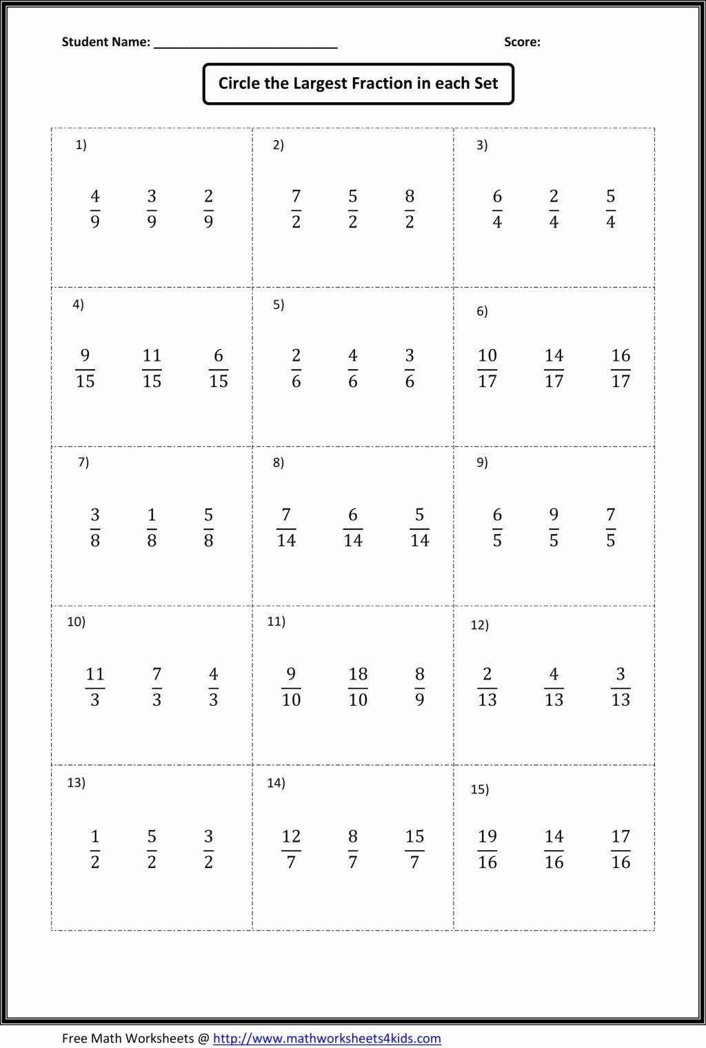 Comparing Fractions Worksheet 4th Grade Fresh Worksheet Worksheet Paring Fractions Worksheets Find