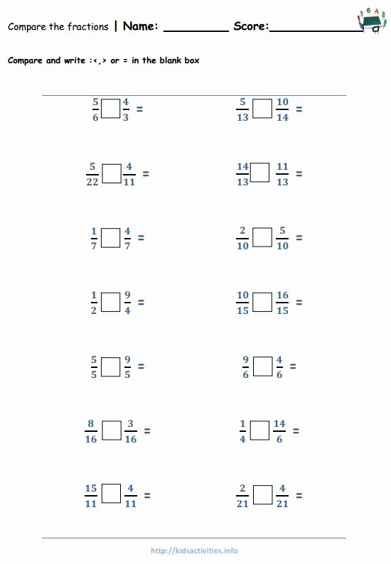Comparing Fractions Worksheet 4th Grade top Worksheet Worksheet 4th Grade Additionrksheets Free