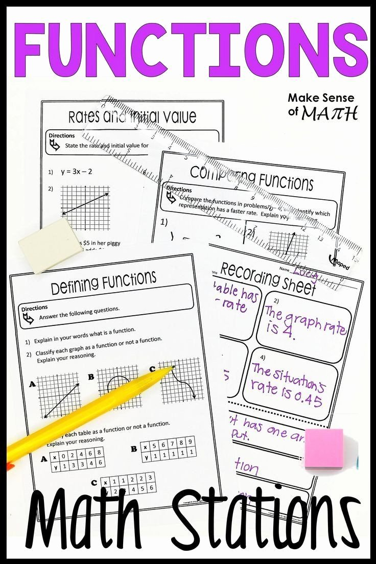 Comparing Functions Worksheet 8th Grade New Paring Functions Worksheet 8th Grade Functions Stations