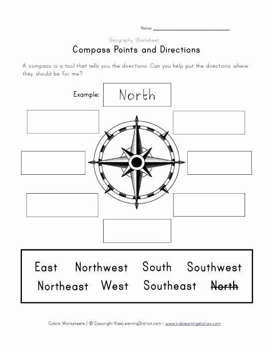 Compass Rose Worksheets Middle School Inspirational Pass and Directions Worksheet