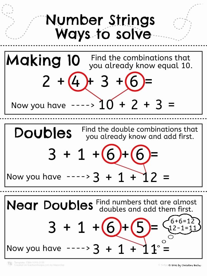 Compatible Numbers 3rd Grade Worksheets Free Number Strings Worksheets and Game