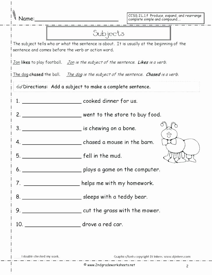 Complete Sentence Worksheet 3rd Grade Free Types Of Sentences Worksheets 3rd Grade – Dailycrazynews