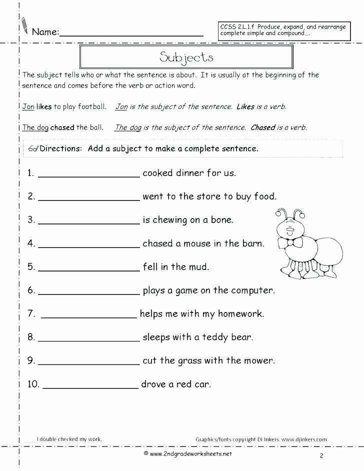 Complete Sentence Worksheets 3rd Grade Printable Types Of Sentences Worksheets 3rd Grade – Dailycrazynews