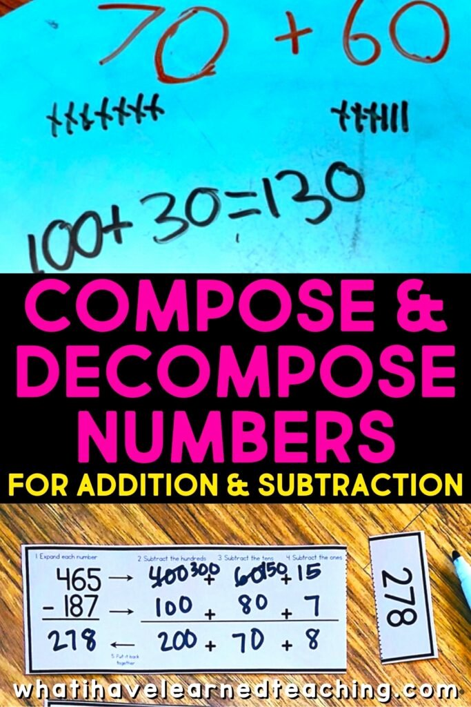 Composing and Decomposing Numbers Worksheet Ideas Pose & De Pose Numbers for Addition & Subtraction