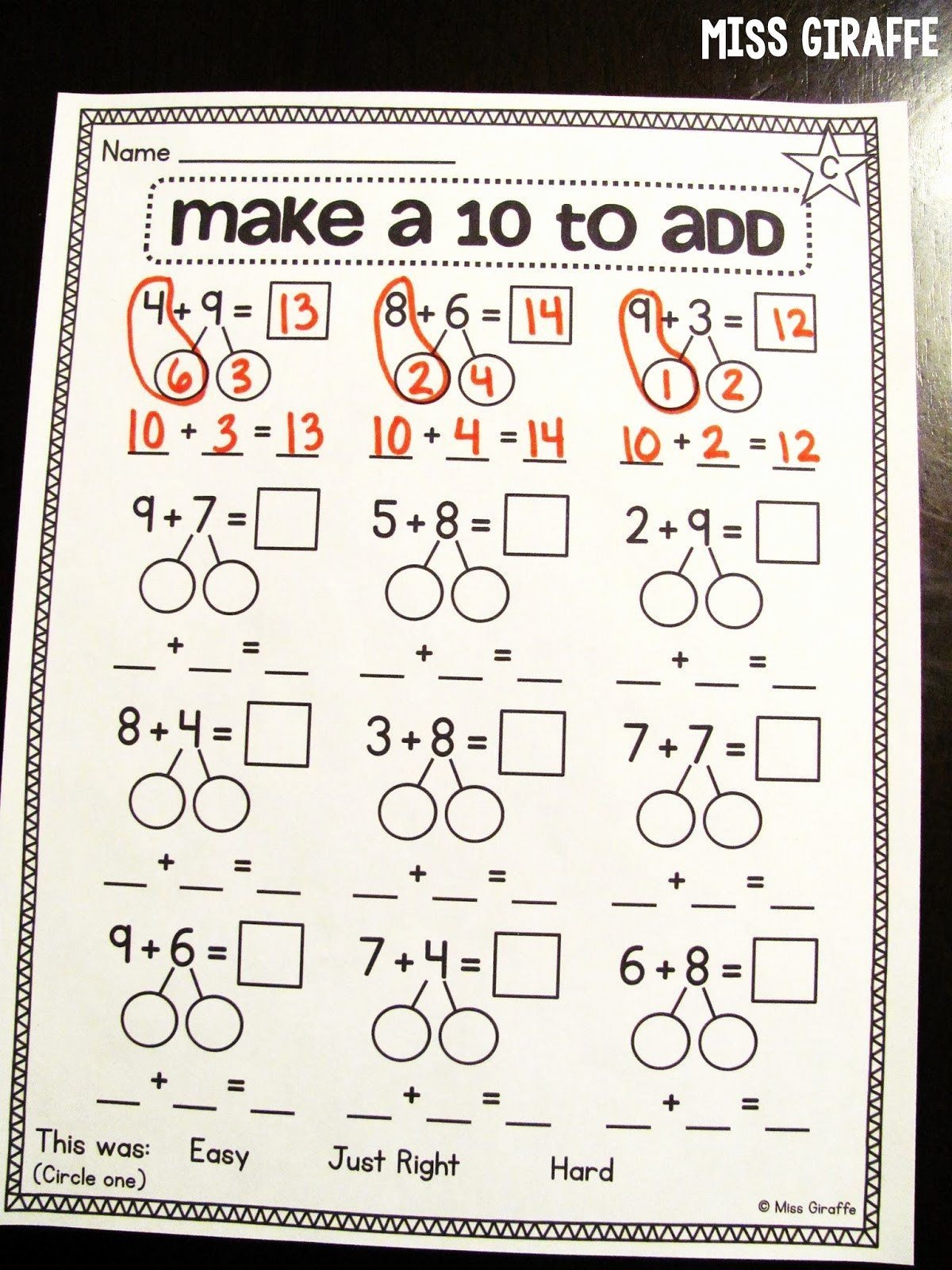 Composing and Decomposing Numbers Worksheet Kids De Posing Numbers Worksheet 3rd Grade Miss Giraffe S Class