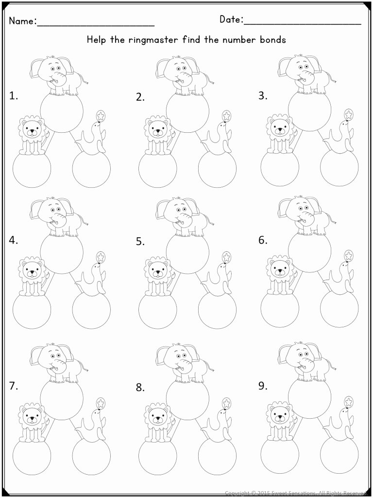 Composing and Decomposing Numbers Worksheet New Teaching Posing and De Posing Numbers to Kindergarten
