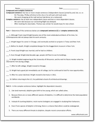 Compound and Complex Sentences Worksheet Inspirational Pound and Plex Sentences Worksheet