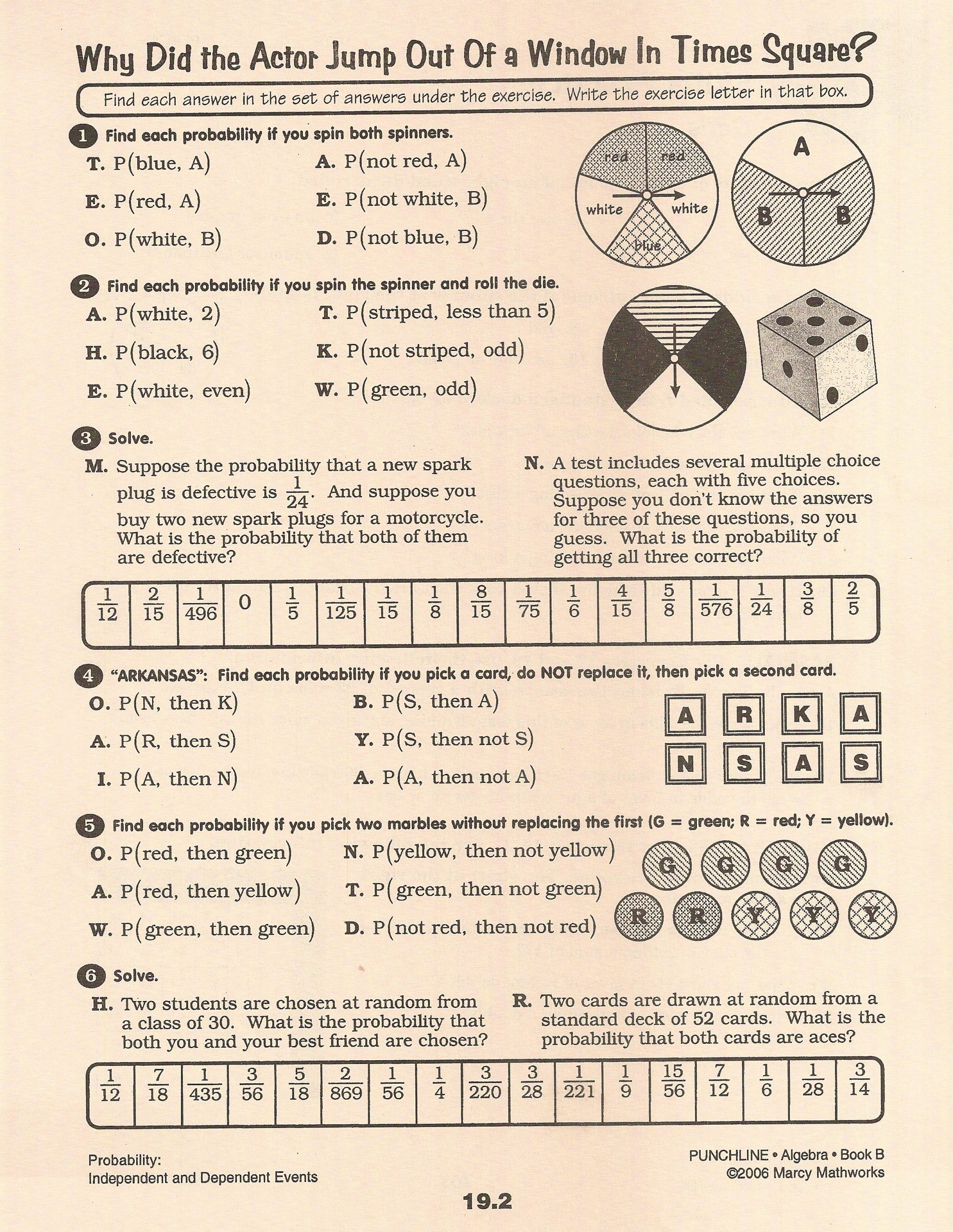 Compound Probability Worksheets 7th Grade Ideas Pound Probability Worksheet 28