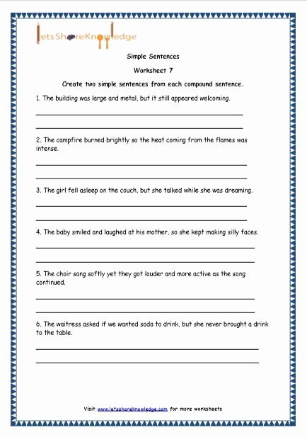 Compound Sentences Worksheet with Answers Inspirational 50 Pound Sentences Worksheet with Answers In 2020