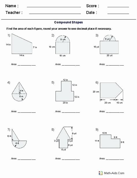 Compound Shapes Worksheet Answer Key Free Related Image Result