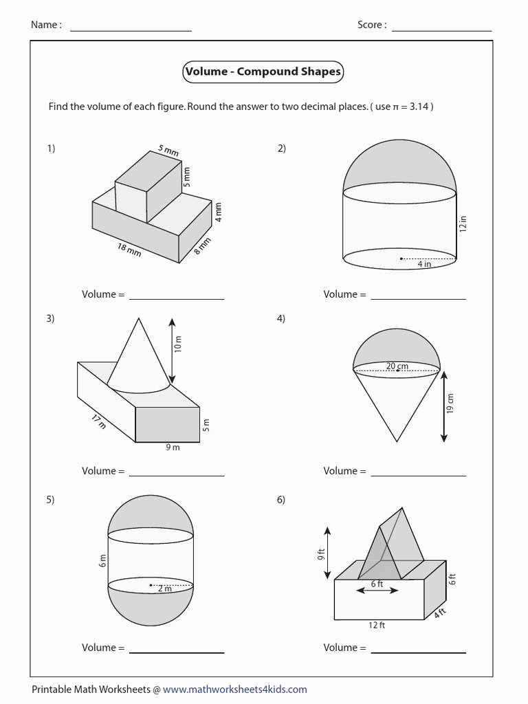 Compound Shapes Worksheet Answer Key Inspirational Pound Shapes Easy3