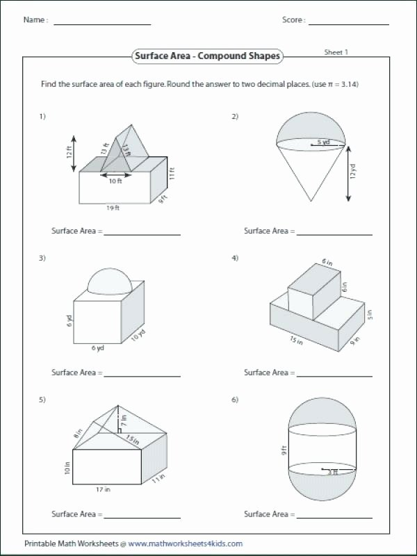 Compound Shapes Worksheet Answer Key New Volume Pound Shapes Worksheet Answers Nidecmege