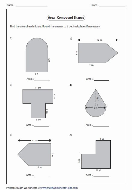 Compound Shapes Worksheet Answer Key top area and Perimeter Pound Shapes Worksheet Pdf In 2020