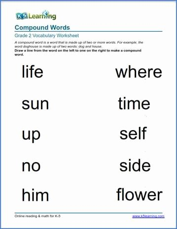Compound Word Worksheet 2nd Grade Kids 2nd Grade Vocabulary Worksheets – Printable and organized by