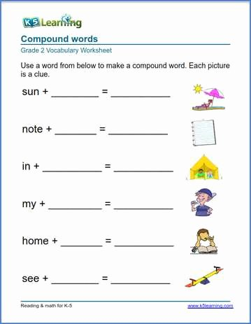 Compound Word Worksheet 2nd Grade Lovely 2nd Grade Vocabulary Worksheets – Printable and organized by