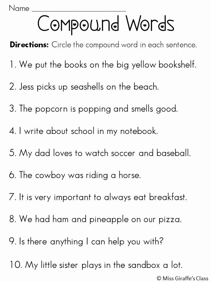 Compound Word Worksheet 2nd Grade Lovely Pound Words Worksheets and Activities Mega Pack