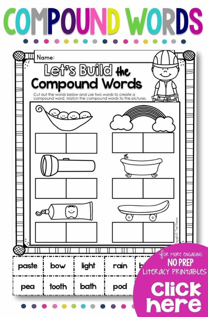 Compound Words Worksheets 1st Grade Printable Worksheet Worksheet Pound Words Sight Word Worksheets