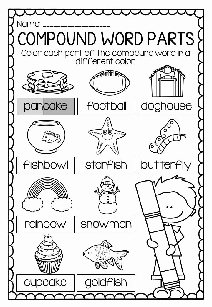 Compound Words Worksheets 1st Grade top Pound Words Worksheets and Activities