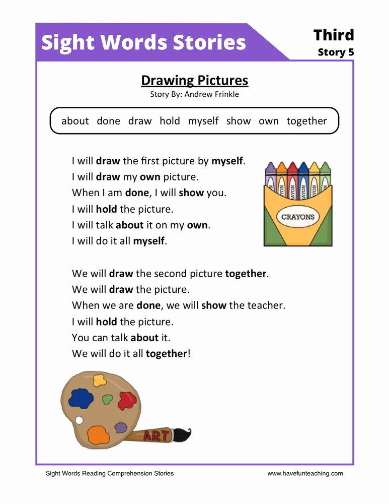 Comprehension Worksheets for First Grade Kids Coloring Pages First Grade Reading Prehension
