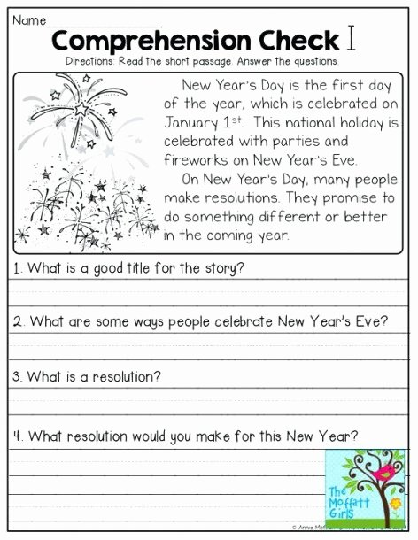 Comprehension Worksheets for First Grade top 1st Grade Reading Worksheets for Christmas First
