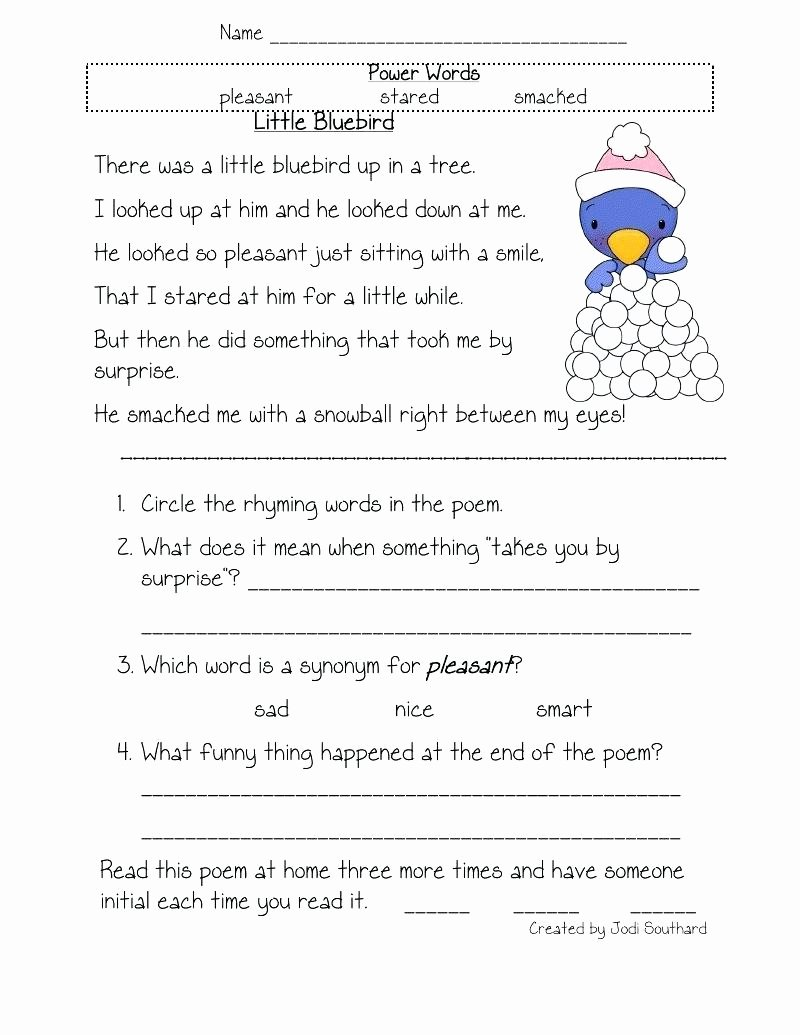 Comprehension Worksheets for Grade 1 Free Coloring Bookle Prehension Worksheets for Grade Lowgrav