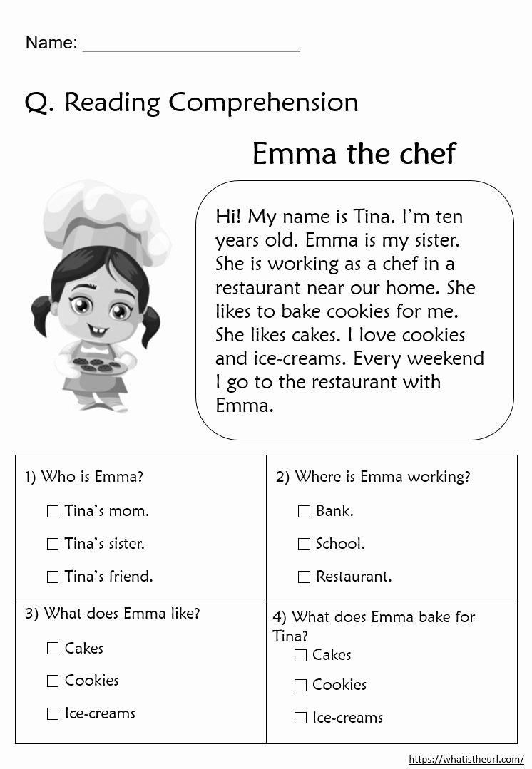 Comprehension Worksheets for Grade 2 Kids Reading Prehension Worksheets for Grade 2 In 2020