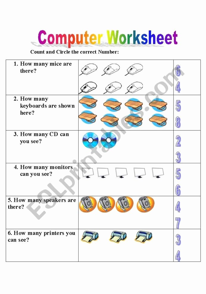 Computer Worksheets for Grade 1 Best Of English Worksheets Puter Worksheet Lesson Arithmetic