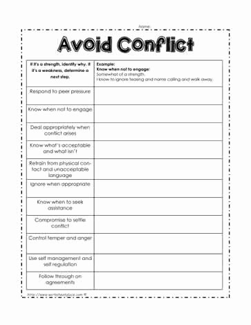 Conflict Resolution Worksheets for Students Inspirational Conflict Resolution Worksheets