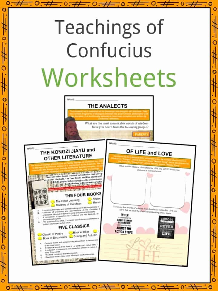 Confucius Worksheet for Middle School Printable Confucius Facts Worksheets Teachings Journey & Political