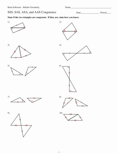 Congruent Triangles Worksheet Answer Key Kids Triangle Congruence asa Aas and Hl Worksheet Answers Nidecmege
