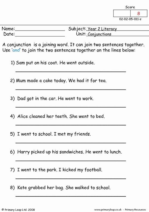 Conjunction Worksheets for Grade 3 Inspirational English Conjunction Worksheets for Grade 3 English