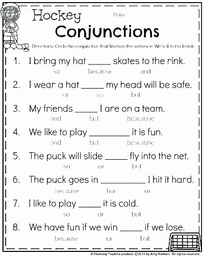 Conjunction Worksheets for Grade 3 Printable Worksheets On Conjunctions for Grade 4 – Dailycrazynews