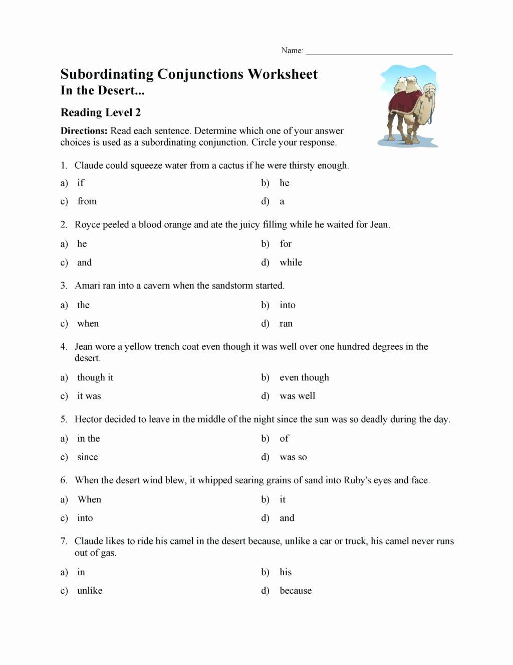 Conjunctions Worksheets for Grade 3 Kids Worksheet Worksheets for Reading Prehension Grade