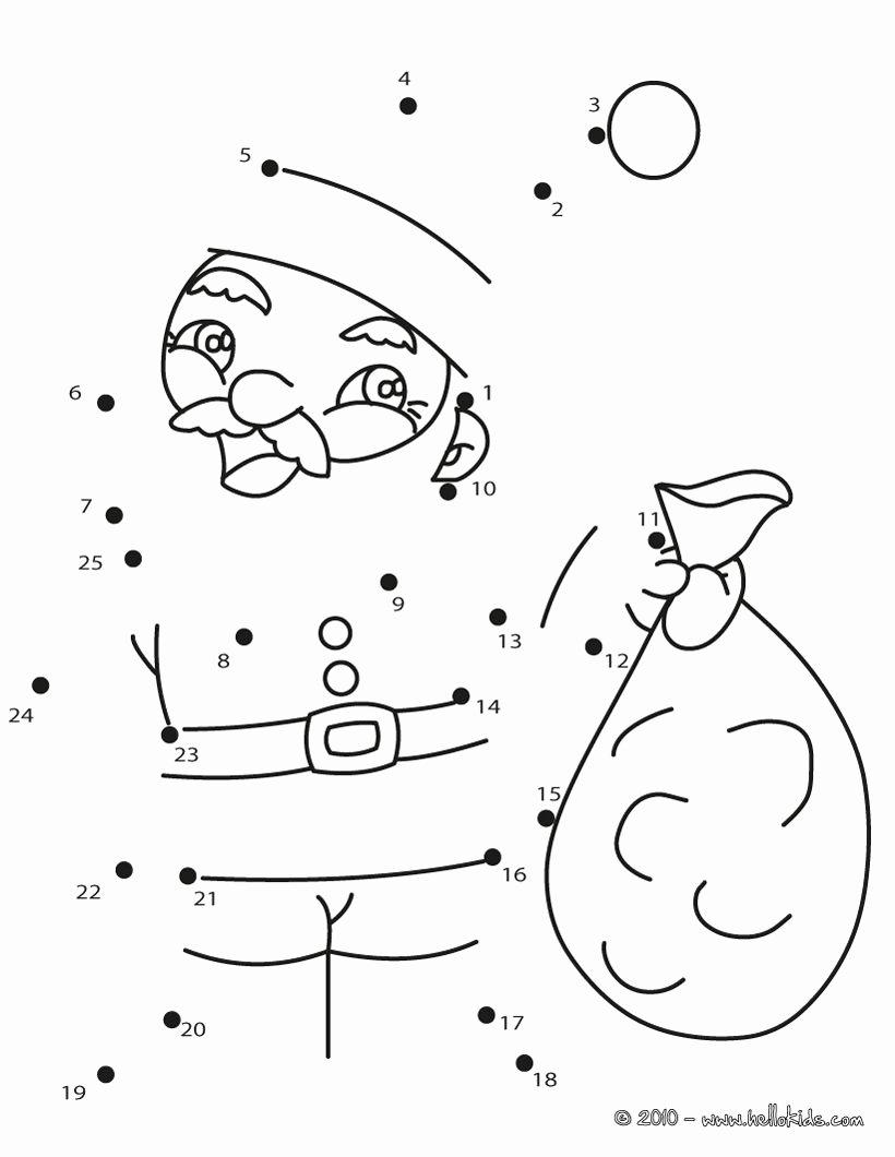 Connect the Dots Christmas Worksheets Inspirational Santa Dot to Dot …