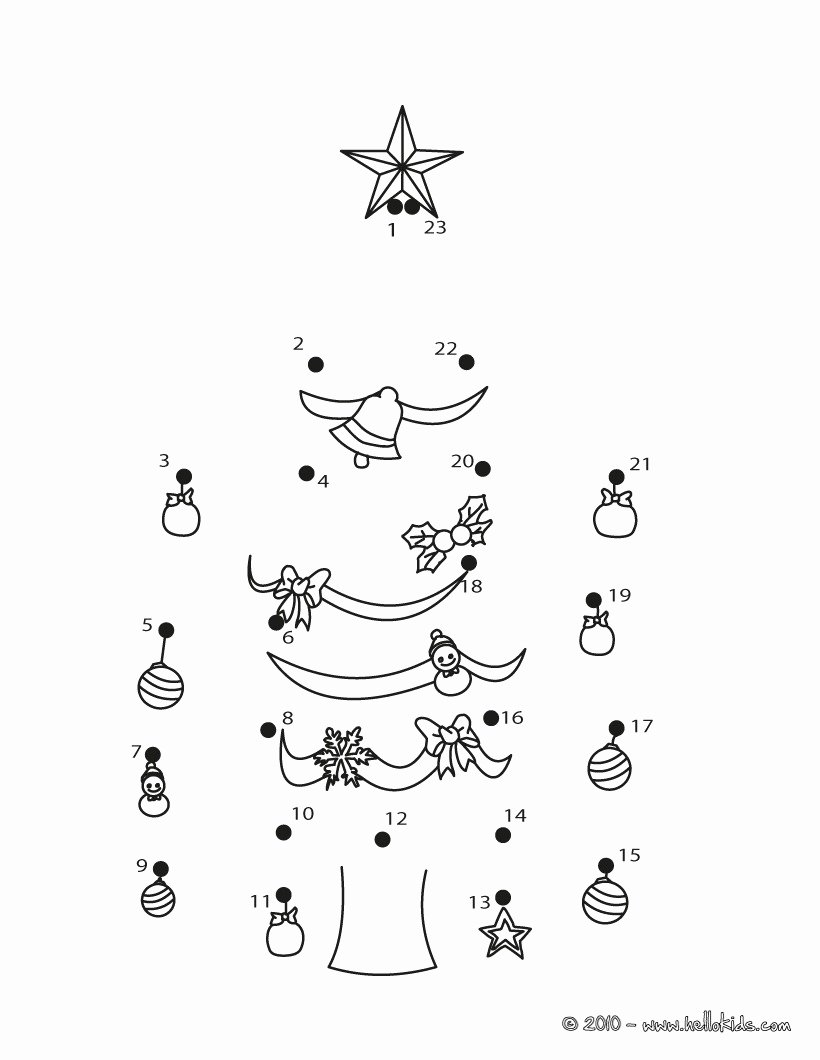 Connect the Dots Christmas Worksheets Printable Christmas Dot to Dot 24 Free Dot to Dot Printable