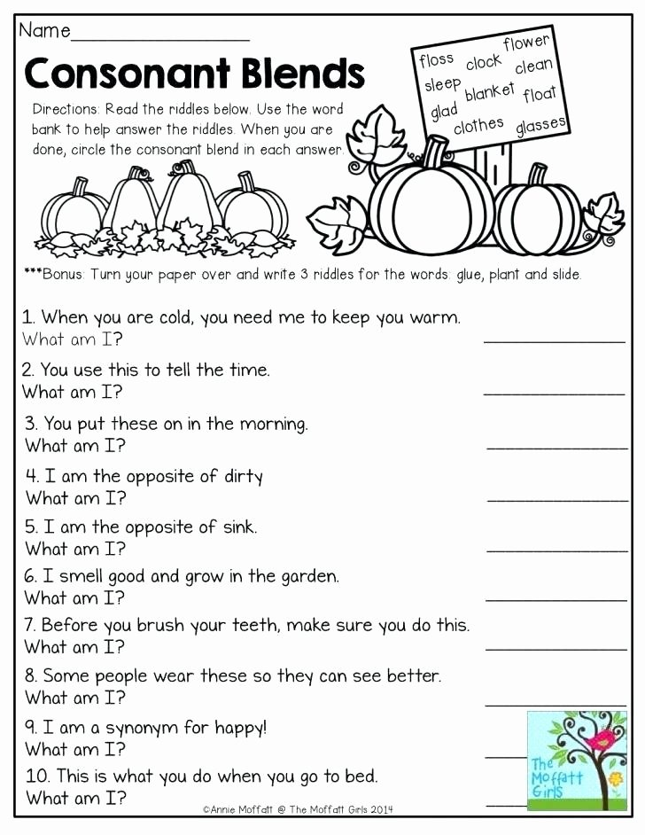 Consonant Blends Worksheets 3rd Grade Printable Consonant Blends Worksheets 3rd Grade Oz Phonics 3 Consonant