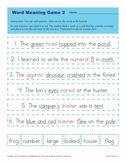 Context Clues Worksheets 1st Grade Fresh Context Clues Worksheets for 1st Grade