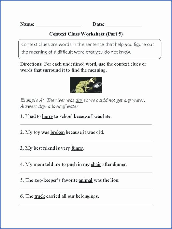 Context Clues Worksheets 5th Grade top 38 Interesting Context Clues Worksheets