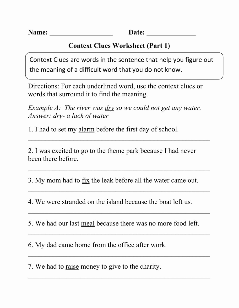 Context Clues Worksheets 6th Grade Lovely Reading Interactive Worksheet
