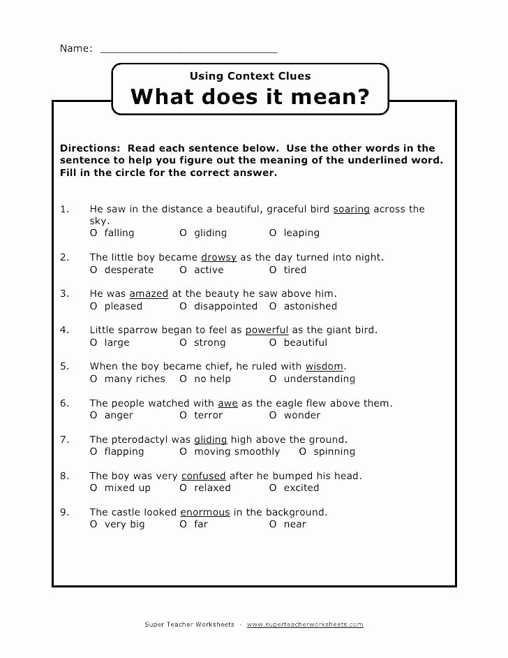 Context Clues Worksheets Second Grade Lovely 38 Interesting Context Clues Worksheets