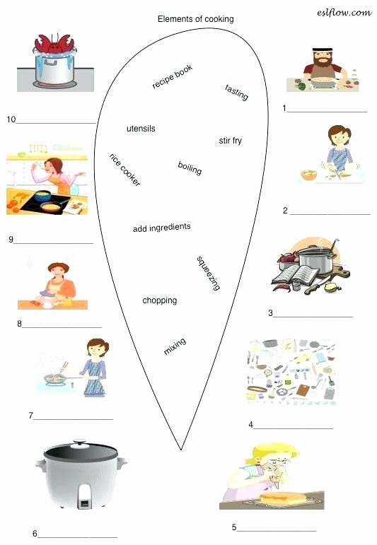 Cooking Worksheets for Middle School New Cooking Worksheets for Middle School Archives Page Cooking