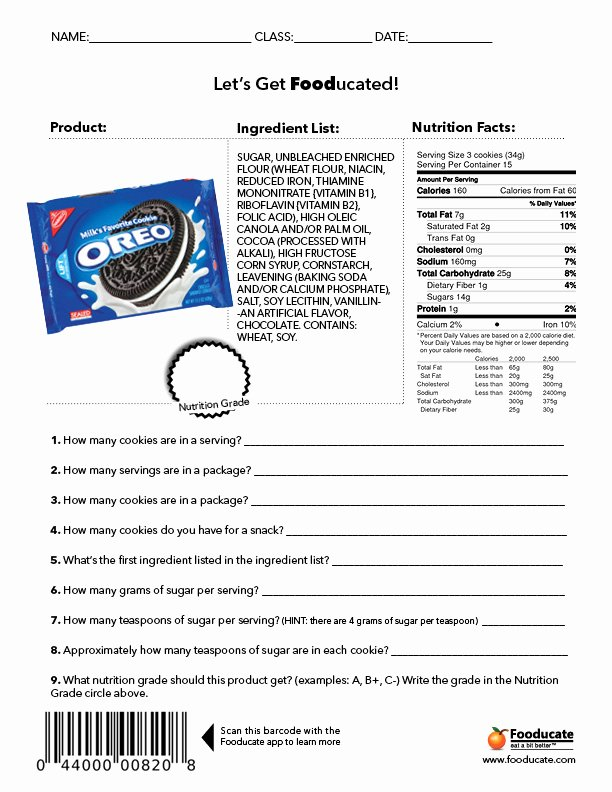 Cooking Worksheets for Middle School New Fun Nutrition Worksheets for Kids